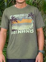 Hinano Tahiti Wind Olive Heather Men's T-Shirt