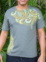 Hinano Tahiti Rowan Olive Heather Men's T-Shirt