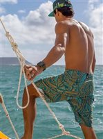Hinano Tahiti Stone Ocean Depths (Teal) Men's Board Short