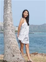 Coral of the Sea Karma Rae Light Gray Prism Dress