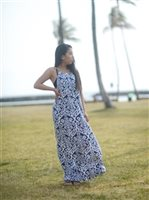 Coral of the Sea Karma Rae Navy Gia Long Dress