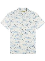 Kahala Sea Swept Natural Rayon / Cotton / Linen Men's Hawaiian Shirt - Standard Fit
