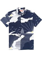 Tori Richard Daybreak - Standard Fit Navy Cotton Spandex Men's Hawaiian Shirt