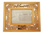 Tropical Leaves  Wooden Wood Photo Frame
