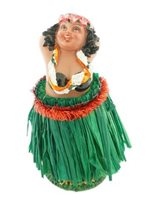 Hula Dancer Mele Dashboard Doll 4""
