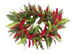 #03 Red Elastic Maile&Spiderlily Headband 17""
