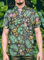 Te Aito Tane 2 Holokai Black Cotton Men's Hawaiian Shirt