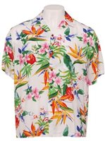 Two Palms Passion Paradise White Rayon Men's Hawaiian Shirt