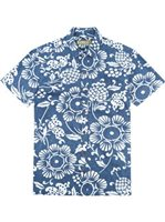 Kahala Duke's Pareo - Standard Fit Navy Cotton Men's Hawaiian Shirt