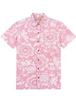 Kahala Duke's Pareo - Standard Fit Guava Cotton Men's Hawaiian Shirt