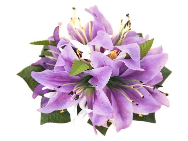 a190fa7e1012 Purple Tiger Lily with Spider Lily Hair Clip 7