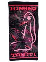 Hinano Tahiti Journey Pink Beach Towel