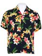 Two Palms Julia Black Rayon Men's Hawaiian Shirt