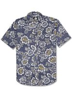 Reyn Spooner Miyazaki Garden Ink Cotton Polyester Men's Hawaiian Shirt Tailored Fit