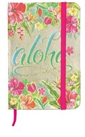 Island Heritage Aloha Floral Foil Note Book with Elastic Band S/M