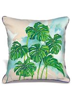 Lauren Roth Monstera Grove Pillow Embroidered