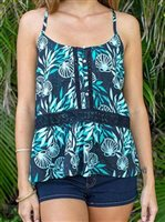 Hinano Tahiti Caliiope Black Open back top [60% OFF]