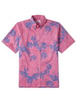 Reyn Spooner 50th State Flower Pink Cotton Polyester Men's Hawaiian Shirt Classic Fit