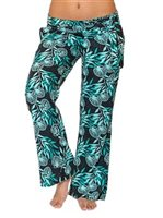 Hinano Tahiti Lyric Black Women's straight leg pants