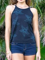 Hinano Tahiti Colbie Black Open back top [60% OFF]