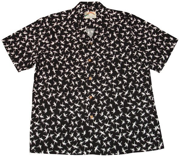 50fe4dddcaa Paradise Found Magnum Bamboo Black Rayon Men s Hawaiian Shirt ...