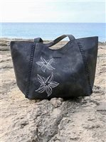 Hinano Tahiti Ocean Black Women's Large Tote Bag