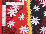 Poepoe Tiare Black&Red Poly Cotton LW-18-626