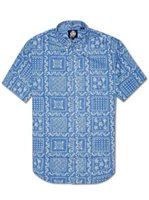 Reyn Spooner Original Lahaina  Marine Cotton Men's Hawaiian Shirt Tailored Fit