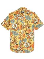 Reyn Spooner Vintage Hawaiian Floral Yellow Cotton Men's Hawaiian Shirt Tailored Fit