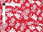 Pineapple Garden Red Poly Cotton HH-204
