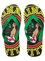 Hinano Tahiti Keitapu Black Men's Slippers