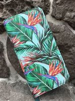 Happy Wahine Bird of Paradise Blue Long Wallet Kaylee