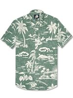 Reyn Spooner My Private Isle Dark Forest Cotton Polyester Men's Hawaiian Shirt Tailored Fit
