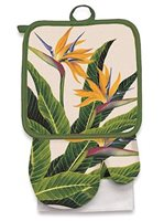 Island Heritage Bird of Paradise Oven Mitt & Potholder set