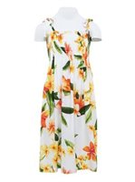 Two Palms Julia White Rayon Girls Hawaiian Summer Dress