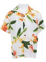 Two Palms Julia White Rayon Boys Hawaiian Shirt