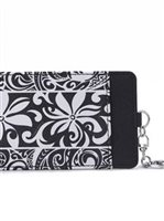 Happy Wahine Tapa Tiare Black Card Case April