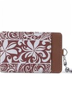 Happy Wahine Tapa Tiare Brown Card Case April