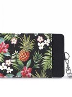 Happy Wahine Vintage Pineapple Black Card Case April