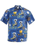 Go Barefoot Pidgin English Royal Cotton Men's Hawaiian Shirt
