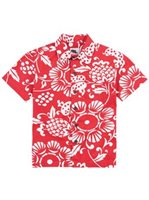 Kahala Duke's Pareo Surfer Red Cotton Boys Hawaiian Shirt