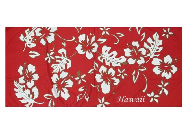 609ee7b85bc Hilo Hattie Classic Hibiscus Pareo Red Beach Towel   AlohaOutlet
