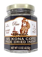 MULVADI 100% Kona Coffee  [Instant Freeze Dried Jar 1.5oz]