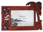 Wooden Palm Tree & Honu Photo Frame