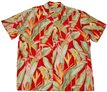 Paradise Found Heliconia Red Rayon Men's Hawaiian Shirt