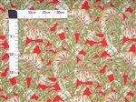 Hawaiian Kanu Red Poly Cotton KI-02