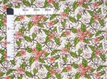 Plumeria with Leaves Natural Poly Cotton LW-18-617