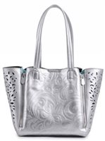 Happy Wahine Hibiscus Silver Handbag Amy Small