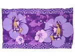 Hinano Tahiti Admiral Purple Screen Printed Pareo