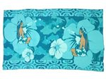 Hinano Tahiti Admiral Teal Screen Printed Pareo